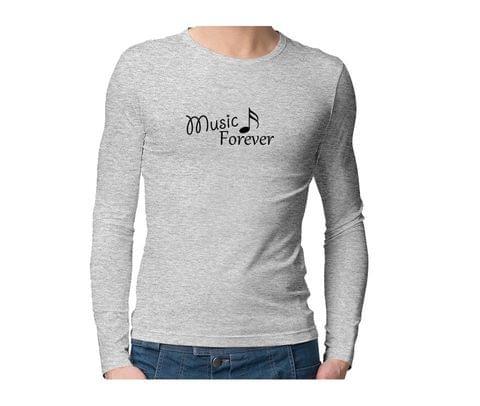 Music Forever  Unisex Full Sleeves Tshirt for men women