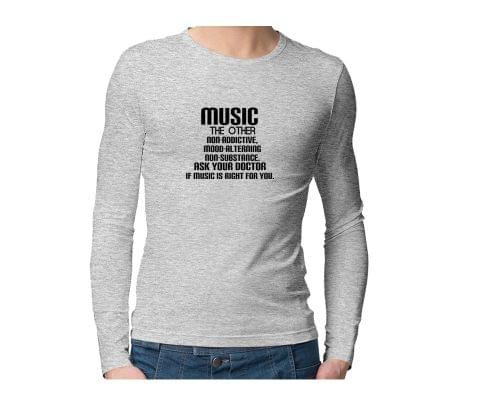 Music Definition recommended by Doctors  Unisex Full Sleeves Tshirt for men women