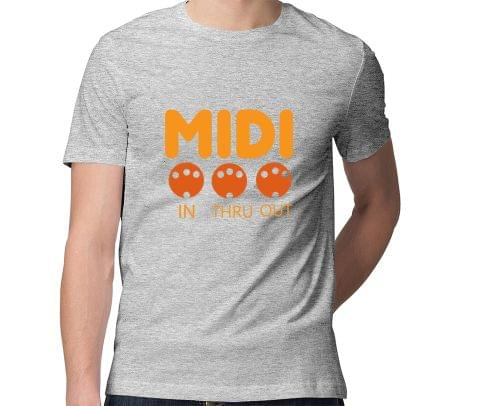 Midi  Men Round Neck Tshirt