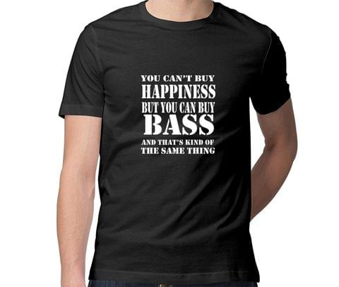Get Bass and Get Happiness  Men Round Neck Tshirt