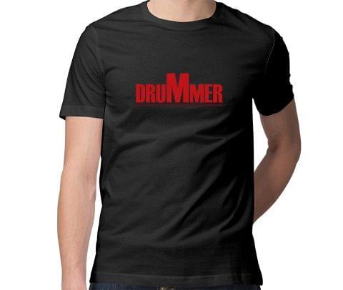 Drummer  Men Round Neck Tshirt