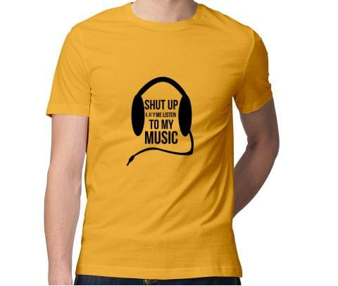 Let me listen to my music  Men Round Neck Tshirt