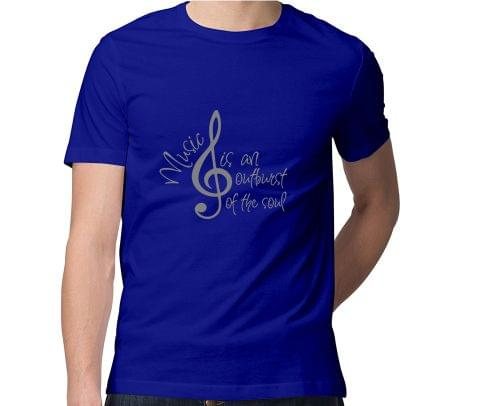 Music Outburst of Soul  Men Round Neck Tshirt