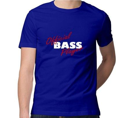 Official Bass Player  Men Round Neck Tshirt