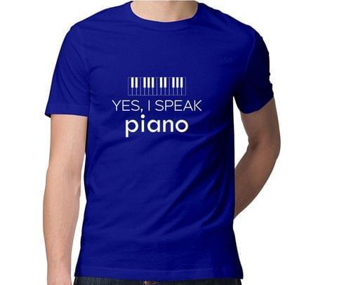 Speak Piano  Men Round Neck Tshirt
