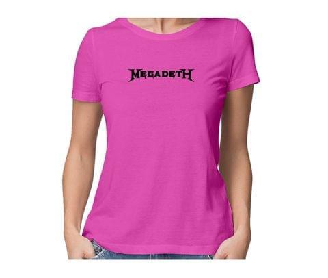 Megadeth  round neck half sleeve tshirt for women