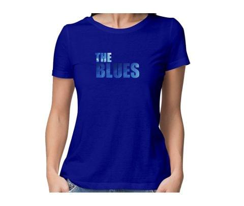 The Blues  round neck half sleeve tshirt for women