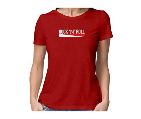 Rock n Roll  round neck half sleeve tshirt for women