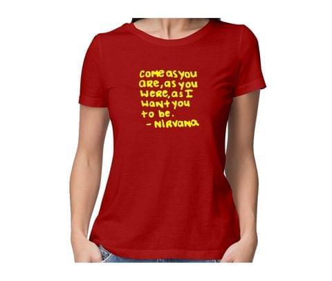 Kurt Cobain Nirvana  round neck half sleeve tshirt for women