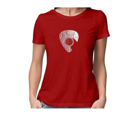 Guitarist Guitar  round neck half sleeve tshirt for women