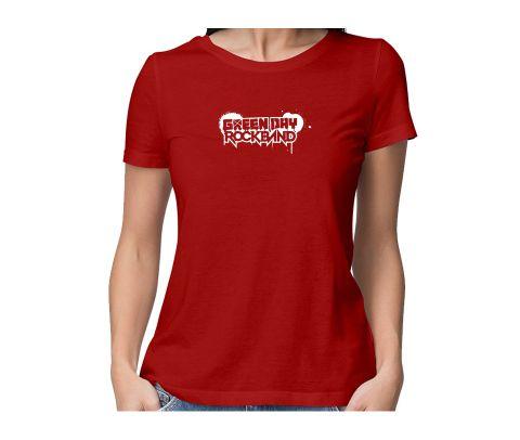 Green Day  round neck half sleeve tshirt for women