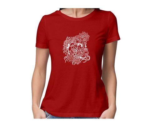 Mood Swings  round neck half sleeve tshirt for women