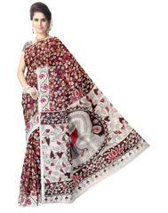 Kalamkari Saree in Cotton-Multicolor