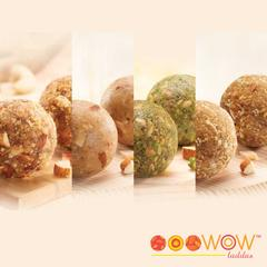 Wow Quartet (12 Pieces, 3 each of 4 types of laddus)