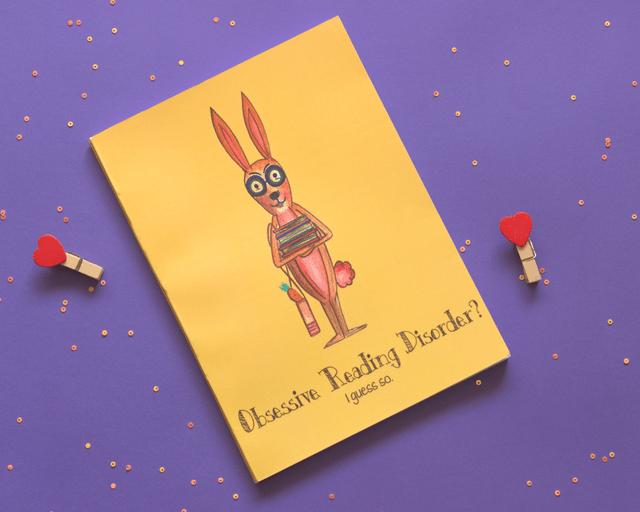 Bookworm Rabbit: Obsessive Reading Disorder Notebook