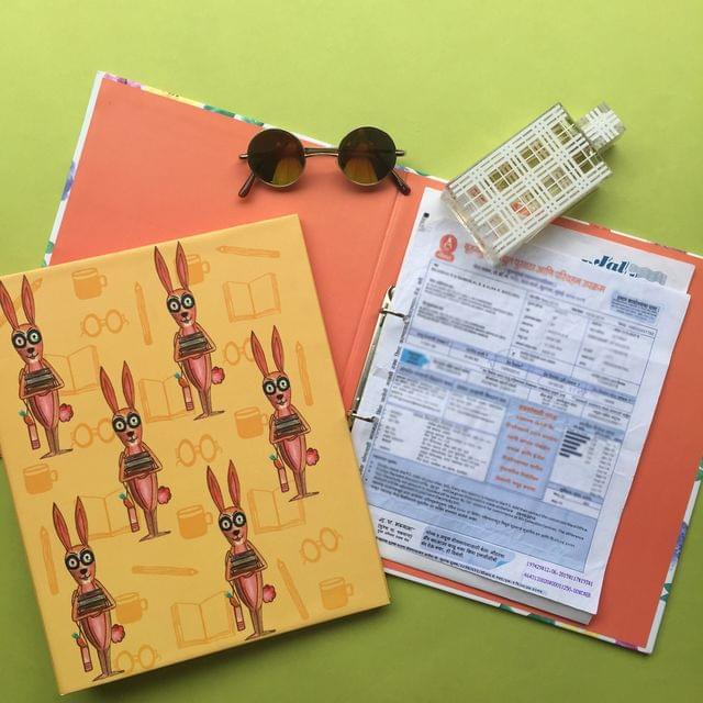 Bookworm Rabbit: Doodled Big Folder