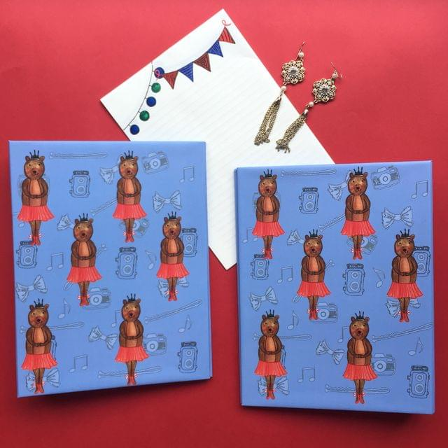 Ballet Bear mini folder notebook