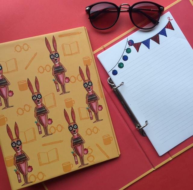 Bookworm Rabbit mini folder noteook