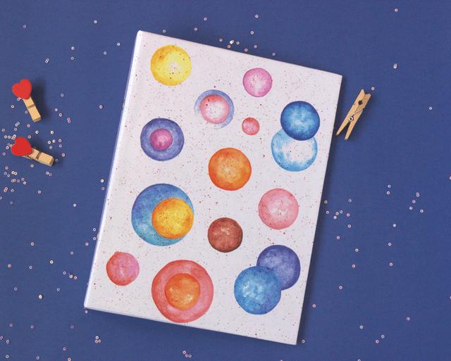 Polka Frenzy mini folder notebook