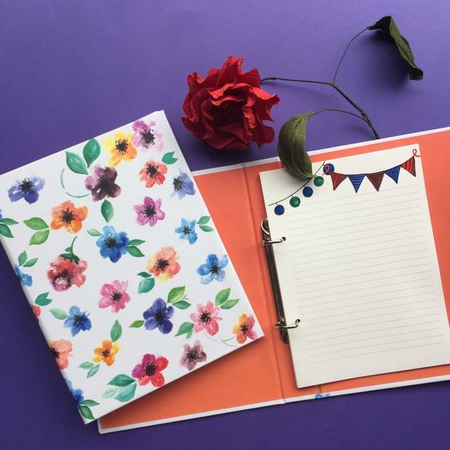 Fleur mini folder notebook