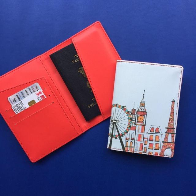 London-Paris-New York Skyline- Sky Blue