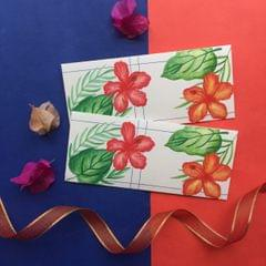 Hibiscus & leaves Money Envelope set
