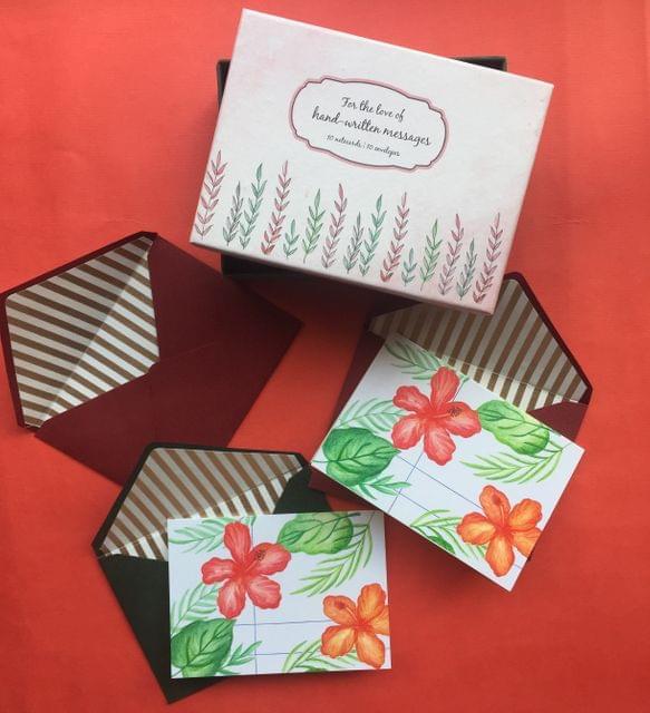 Hibiscus & Leaves Notecard set