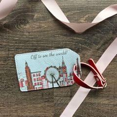 London Paris New York Skyline Luggage Tag
