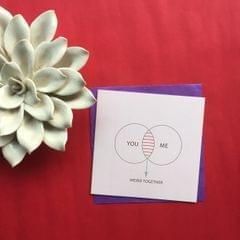 Weird Together Venn Diagram Greeting Card