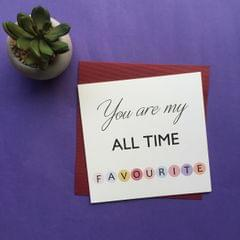 All Time Favourite Greeting Card