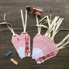 Bookworm Rabbit gift tag set