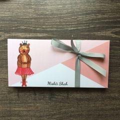 Ballet Bear Money Envelope set