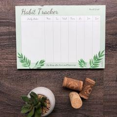 Leafy Habit Tracker Notepad