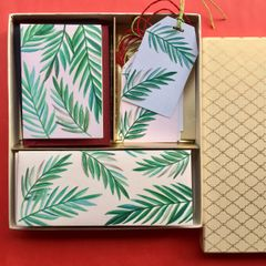 Tropical Leaves Stationery set