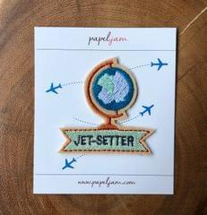 Jet-setter Globe Patch