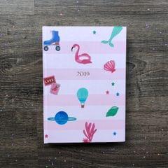 2019 Hardbound Planner: Pink Endless Utopia