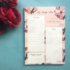 My Daily Plan Notepad-Floral Bloom