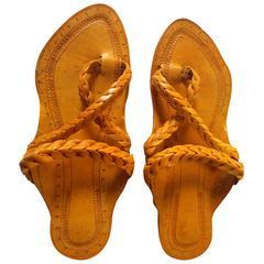 Men Kolhapuri Brown Sandal-Gandhi Style