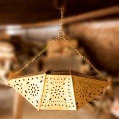 Hand Crafted Brass Chandelier Rectangular