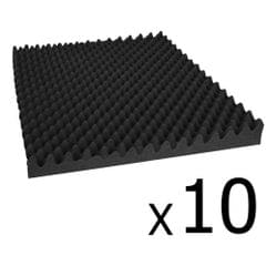 Studio 10 Eggshell Acoustic Foam Black 50 x 50cm