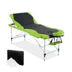 Aluminium Massage Table 3 Fold Green Black