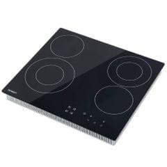 6300W Four Burner Ceramic Cooktop Black