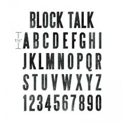 Sizzix Bigz XL Alphabet Die - Block Talk Capital - 658563