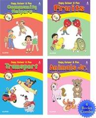 Copy Colour with fun - Combo 1 : Animals JR, Fruits, Transport, Comunnity helpers  (English, Paperback, ALLSTAR TEAM)