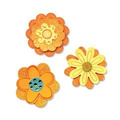 Sizzix Sizzlits Die Set 3PK - Flower Layers Set #2 Item - 656324