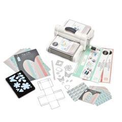 Sizzix Big Shot Plus Starter Kit (White & Gray) with My Life Handmade Cardstock & Fabric- 661546