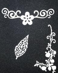 Leaf w/ Flower Borders 3PK- CPMD005