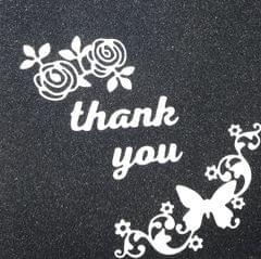 Thankyou W/ Roses & Butterfly Corner 3PK- CPMD009