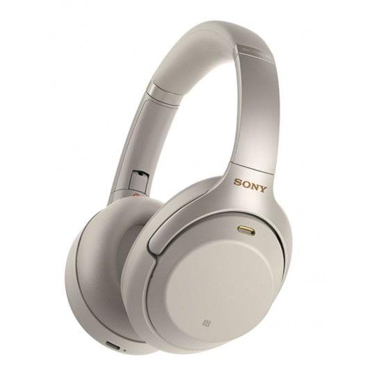 SONY WIRELESS NOISE CANCELLING HEADPHONES - SILVER