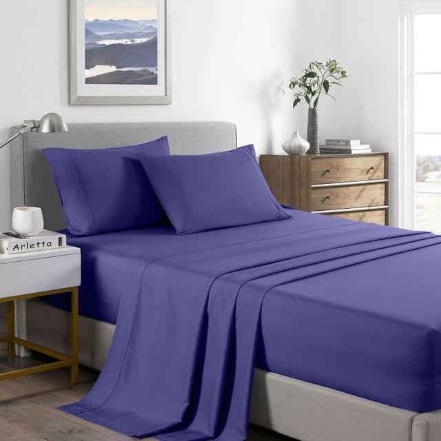 (DOUBLE) Royal Comfort 2000 Thread Count Bamboo Cooling Sheet Set Ultra Soft Bedding - Royal Blue